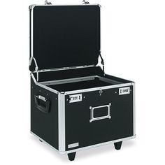 Vaultz Lock Mobile File Chest Storage Box, Letter/Legal, Black
