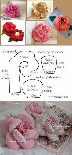 Rose Cushions | Сделай сам цветок Форма подушки: