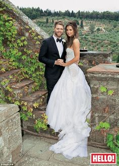 Just married: Brian McFadden  with new wife Vogue Williams at their September 2 wedding