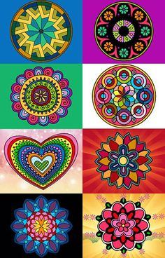 colors in flowers madelia hearts Mandala Art, Mandala Painting, Dot Painting, Funky Painted Furniture, Painted Chairs, Painted Rocks, Hand Painted, Arte Country, Deco Boheme