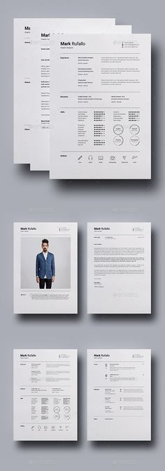 Resume / CV Template InDesign INDD, MS Word - US Letter & A4