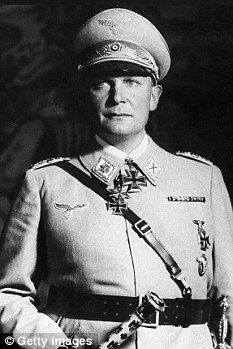 Head of the German Luftwaffe, Hermann Goering, pictured, who was a morphine addict, described Theodor Morrell as 'Reich syringe master' because he was injecting a bull semen cocktail into Hitler during 1944 Indira Ghandi, Manfred Von Richthofen, Otto Von Bismarck, The Third Reich, Military History, Ww2 History, Luftwaffe, Fighter Pilot, Warriors