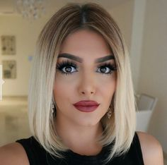 60 New Ideas For Hairstyles Festa Medio Ombre Hair, Wavy Hair, New Hair, Blonde Hair, Blonde Ombre, Elegant Hairstyles, Curled Hairstyles, Cool Hairstyles, Hair Lights