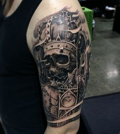 Skull and crown tattoo - 100 Awesome Skull Tattoo Designs