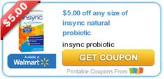 $5.00 off any size of insync natural probiotic
