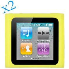 Coque de protection jaune pour Ipod nano 6
