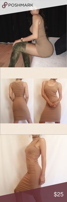 "Kylie Jenner top quality nude strapless dress •no trades 🚫 •SHIPS TOMORROW💋  •Brand new! True to size   ❗️brand added for exposure!! If you don't know what that means ASK 😊 We sell this in Timless Look Boutique nwt   @goguios in insta 📸(acct manager) modeling small   soft fabric- with a great stretch :)   🎀visit ""Closet Rules"" for more info - Timeless Look Men  👦🏾👦🏽👦🏼@timelesslookmen NOW OPEN more info in closet 💕👦🏿👦🏻 Kylie Cosmetics Dresses Midi"