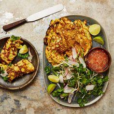Yotam Ottolenghi, Ottolenghi Recipes, Meat Recipes, Asian Recipes, Pancake Recipes, Healthy Recipes, Ethnic Recipes, Dinner Recipes, Herb Salad