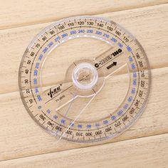 Diámetro de 10 cm De Plástico más nuevo Portátil de 360 Grados Prolongador Regla Puntero Buscador de Ángulo de Balanceo de los Brazos Para Suministros de Oficina de la Escuela
