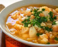 Cauliflower and Pasta Soup Recipe