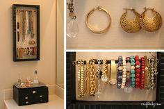 organized & shiny new jewelry display