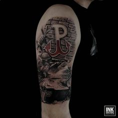 Tattoo Sleeve Designs, Sleeve Tattoos, Poland Tattoo, Rip Tattoo, Cartoon Tattoos, Bird Drawings, Ww2, Tattoos For Guys, Skull