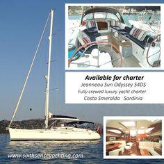 Summer 2016. Crewed yacht charter Sardinia