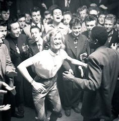 Jazz in the 1950 in a jazzclub from copenhagen  .  Hope she have had a happy and fun life ....