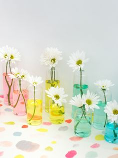 Rainbow Vases DIY...