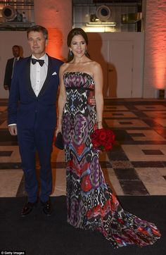 Princess Mary (pictured here at a Washington DC gala in 2016) is known for her love of prints, and is unafraid of taking it to the red carpet