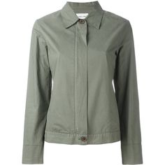 Pre-owned Helmut Lang Vintage zip up jacket ($535) ❤ liked on Polyvore featuring outerwear, jackets, green and helmut lang