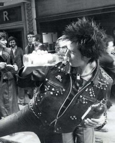 Sid Vicious after signing the Sex Pistols contract with A, March 1977.