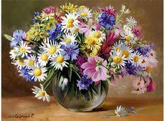 «Цветочная палитра» Светланы Вавейкиной Картина по номерам, картина-раскраска по номерам, раскраска по номерам, paint by numbers, купить картину по номерам - Zvetnoe.ru - картины по номерам, алмазная мозаика