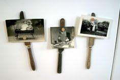 Knife Silverware Picture Holders  Set of 3 by monkeysalwayslook, $18.00