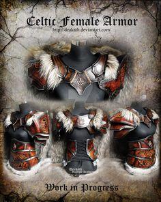 Celtic Female Armor set - WIP 2 by Deakath on DeviantArt