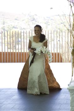 Beautiful tapa wedding dress