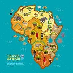 Unique Travel Africa Poster