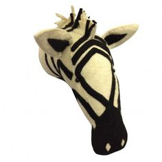 Fiona Walker Zebra trophy `One size Fabrics : Boiled wool, Polyester * 30 cm. * Do not wash * Details : Handmade, Fair trade, Due to each piece being unique, the product may vary slightly from the photo on the website http://www.MightGet.com/january-2017-13/fiona-walker-zebra-trophy-one-size.asp