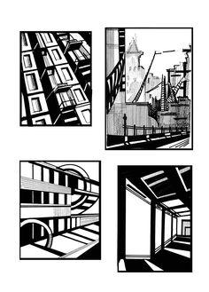 """""""Ритмическая композиция.Эскизы"""". Тушь, 20х30, 2007г. Le Clan, Posca Art, Ap Studio Art, Architecture Graphics, Composition Design, Constructivism, Black White Art, Environment Concept Art, Elements Of Art"""