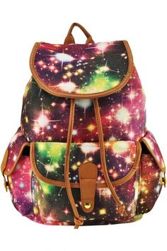 LUCLUC Red Stars Canvas Backpacks Bag