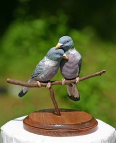 Custom Wood Pigeon Wedding Cake by TeaOlive - Can be done in the Dove version as well.