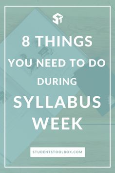 Wondering what to do during syllabus week and the first day of school? Here are some important tips for college and high school students some the things that you need to do in order to get ahead for this semester!