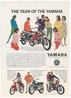 Yamaha Motorcycle Ad Vintage Yamaha The Year of by TheRetroRanch, $10.00