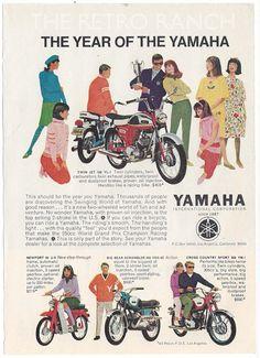 Yamaha Motorcycle Ad Vintage Yamaha