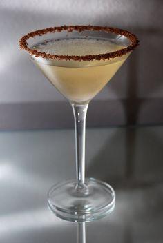 Frangelico Hazelnut Martini is served following dinner but before dessert.