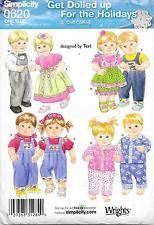 """Simplicity 15"""" DOLL """"GET DOLLED UP FOR THE HOLIDAYS"""" Sewing Pattern #0620 Uncut"""