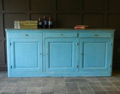 Painted Kitchen Cupboard Unit With Zinc Top Previously For Sale On Salvoweb From Masco Architectural Salvage Painted Kitchen Cupboardsarchitectural Salvage