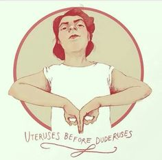 Uteruses before duderuses Art Print by Elin eplet. Now I have a gang sign. Uteruses Before Duderuses, Smash The Patriarchy, Riot Grrrl, Feminist Art, Intersectional Feminism, Girls Be Like, Make Me Smile, Equality, Religion