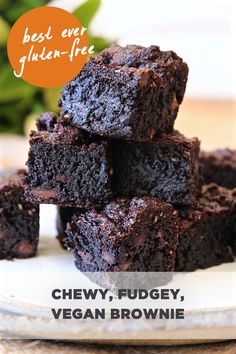 Best ever chewy, gooey, vegan, gluten-free brownie. Made using doTERRA essential oil and love