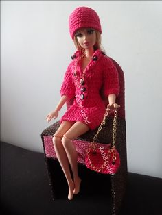 #Doll #Crochet #Barbie #RaquelGaucha