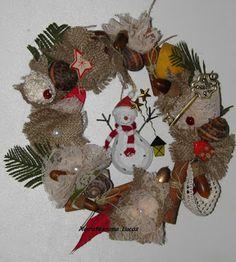 Χριστουγεννιάτικο στεφάνι με καρπούς