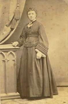 Vintage studio portrait of a Victorian lady