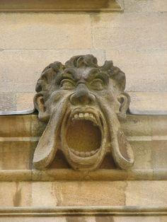 Screamer from Canterbury Quad, St John's College, Oxford c.1631-36.