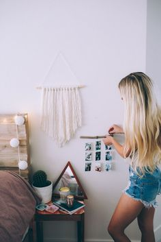 I like this ** DIY Summer time Room Decor impressed by Pinterest! + Room Makeover