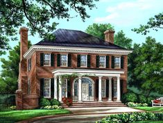 Colonial Plantation Southern House Plan 86225