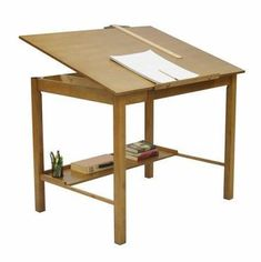 Studio Designs Americana II Drafting Table - Light Oak - The Studio Designs Americana II Drafting Table - Light Oak 13254 features a sleek, minimal design born from contemporary design. It's definitely. Wood Drafting Table, Drafting Desk, Drafting Drawing, Light Table, A Table, Solid Wood Desk, Arts And Crafts Furniture, Inside Design, Light Oak