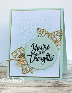 Stampin Up Thoughtful Branches card by Amy O Thoughtful Branches only available August 2016