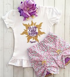 """Best Days Ever """"Go Live Your Dreams"""" Shirt and Peek-A-Boo Shortie Set"""