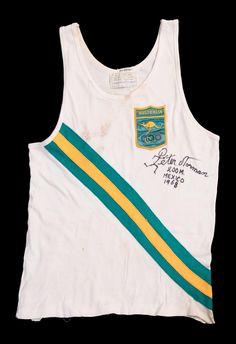 1968 _ BLACK POWER SALUTE: Peter Norman's Australian running uniform from 1968 Mexico…
