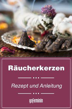 Räucherkerzen selber machen: Duftes DIY für Hobby-Hexen Aroma Therapy, Buddha, Happy, Desserts, Handmade, Food, Winter Time, Diy Home Crafts, Witches